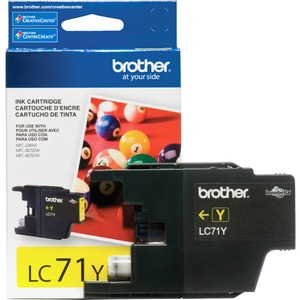 Lc71y Yellow Ink Cartridge For Clr Inkjet Mfcs / Mfr. No.: Lc71y