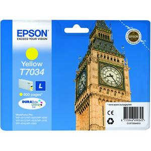 Encre Epson Jaune - Série Big Ben pour WP-40xx/45xx - 800 pages - T703440