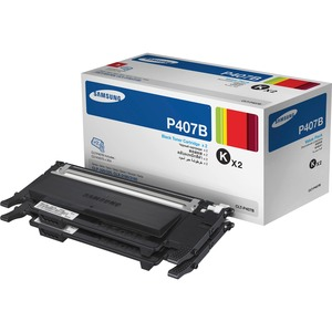 Black Toner X2 For Clp-325w Clx-3185 Clx-3185fw / Mfr. No.: Clt-P407b