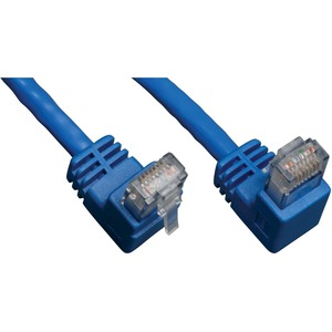 3ft Cat6 Blue 3 Gigabit Right Angle Down To Straight Patch Ca / Mfr. No.: N204-003-Bl-Dn