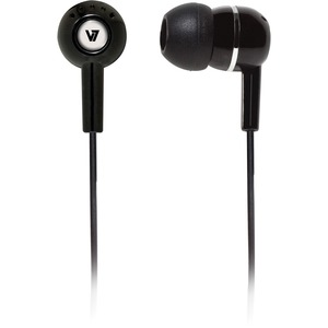 V7 Noise Isolating Stereo Earbuds - Black / Mfr. No.: Ha100-2np