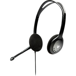 V7 Stereo Headset with Noise-Cancelling Microphone - Black / Mfr. No.: Ha201-2np