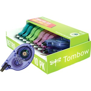Tombow Mono Retro Correction Tape Assorted Colours 10/box