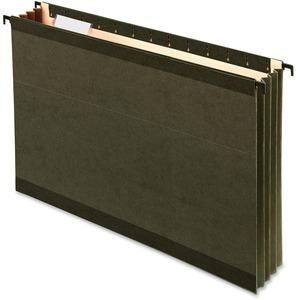 Pendaflex® SureHook Hanging File Pockets Legal Standard Green 4/pkg