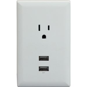 USB Wall Plate Charger White / Mfr. No.: Wp2uwr