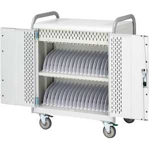 Tablet Storage Cart For 36 Tabs Rear Panel Power Mgr Cust Pays Fr / Mfr. No.: Mdmtab36bp-Ctal