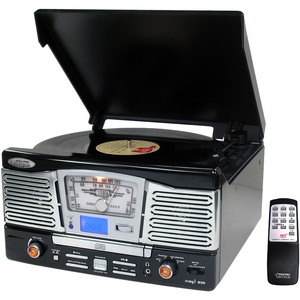 Retro Style Turntable With Cd/R Adio/USB/Sd/Mp3/Wma and Vinyl-To- / Mfr. no.: PTCD8UB