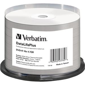 Verbatim DataLifePlus - 50 x DVD-R - 4.7 Go 16x - - 43782