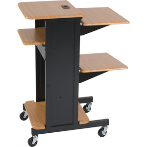 Mooreco Presentation Cart Teak And Black / Mfr. No.: 27519
