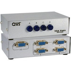 Qvs 4port Hd15 VGA/SXGA Manual Switch / Mfr. No.: Ca298-4p