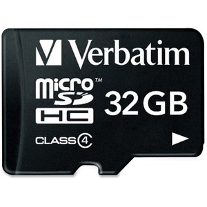 Verbatim 32GB Microsdhc Memory Card With Adapter Class 4 - 97643 / Mfr. No.: 97643