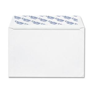 "Columbian Grip-Seal Greeting Card Envelopes - Announcement - 5 3/4"" Width x 8 3/4"" Length - 24 lb - Peel & Seal - Wove - 100 / Box - White"