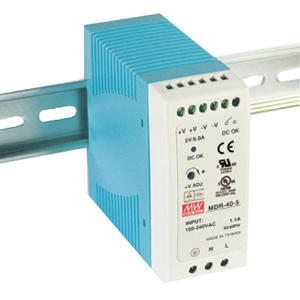 40w Power Supply Rail Mount 24vdc 1.7a / Mfr. No.: Mdr-40-24