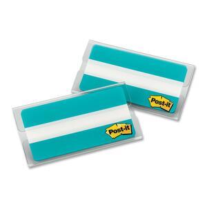 "Post-it® Durable Filing Tabs 3"" Flat Blue 20/pkg"