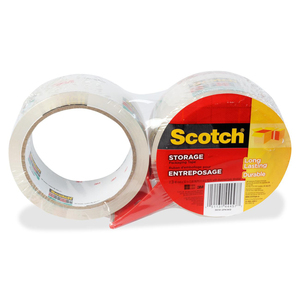 Scotch® 3610 Storage Tape with Dispenser 48 mm x 50 m Clear 2/pkg