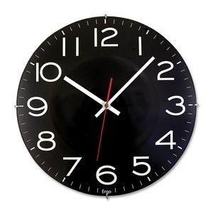"""Timekeeper Rimless Wall Clock 11-1/2"""" Black"""