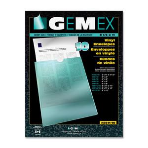 "Gemex Vinyl Pockets 8-1/2""x11"" 10/pkg"
