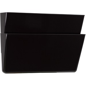 Storex® Wall Files Letter Black 2/pkg