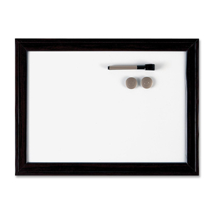 "Quartet® Espresso Home Décor Magnetic Dry Erase Board 17"" x 23"""