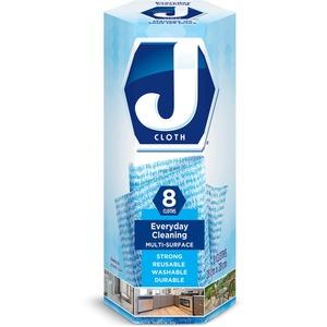 """J Cloth Biodegradable Reuseable Cloths 11"""" x 18-29/32"""" Blue 8/box"""