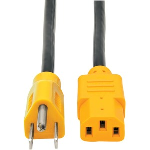 Tripp Lite 4ft Color-Coded Standard 125V AC Power Cord 5-15P to IEC-320-C13 - Yellow / Mfr. No.: P006-004-Yw