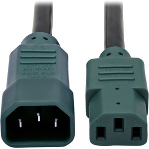 6ft 14awg Power Cord Heavy Duty C13 To C14 Green Connectors / Mfr. No.: P005-006-Gn