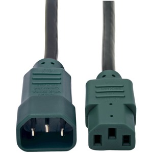 4ft 18awg Power Cord C14 To C13 Green Connectors / Mfr. No.: P004-004-Gn