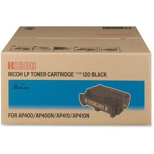 Type 120 Black Toner Cartridge 15k Pg Yield For Aficio Ap410 S / Mfr. no.: 407000