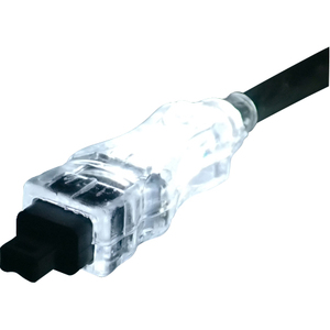 15ft Fw/I.Link 6pin To 4pin M/M A/V Translucent Cable W/ LED Wh / Mfr. No.: Cc1394b-15whl