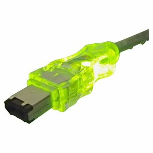 6ft Fw/I.Link 6pin To 4pin M/M A/V Translucent Cable W/ LED Gree / Mfr. No.: Cc1394b-06gnl