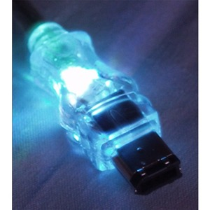 15ft 6pin Firewire/I.Link M/M Translucent Cable With LED Blue / Mfr. No.: Cc1394-15bll