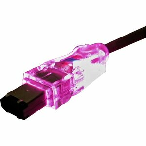 6ft 6pin Firewire/I.Link M/M Translucent Cable With LED Purp / Mfr. No.: Cc1394-06prl