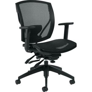 Offices To Go Ibex Mesh Medium Back Multi-Tilter Chair Black