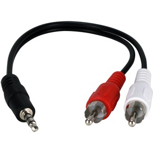 8in 3.5mm Mini-Stereo Male To Two RCA Male Speaker Adaptor / Mfr. No.: Cc399ac