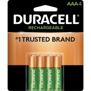 """Duracell® Rechargeable Stay-Charged Batteries """"AAA"""" 4/pkg"""
