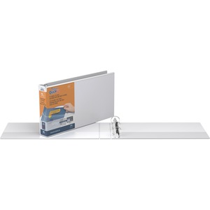 """Davis Group Deluxe QuickFit® Heavy Duty Spreadsheet View Round Ring Binders Legal 1-1/2"""" White"""