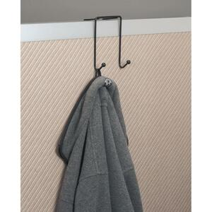 Westcott® Partition and Wall Coat Hooks Two Hooks Black