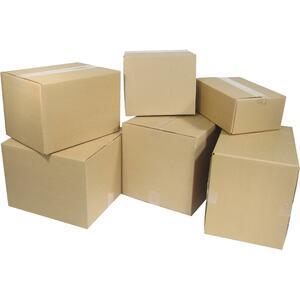 "Kraft Corrugated Shipping Boxes 12"" x 12"" x 12"" 10/pkg"