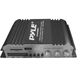 Pyle 100 Watt Class-T Hi-Fi Audio Amplifier with USB Flash and SD Memory Card Readers - AC Adapter Included / Mfr. No.: Pfa400u