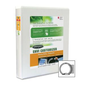 "Wilson Jones® ENVI Customizer® Heavy Duty Round Ring Binder 1"" White"