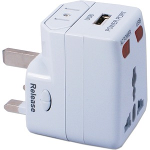 Premium Universal Travel Power Adaptor With USB Charger / Mfr. No.: Pa-C2