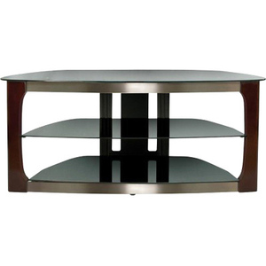 Universal Mounting Tv Stand Brushed Nickel Wood Legs Cust Pays Frt / Mfr. No.: Tpc2133