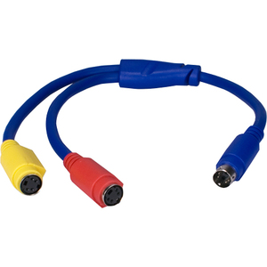 12in S-Video Mini4 Male To Two Female Splitter Cable / Mfr. No.: Csv2f