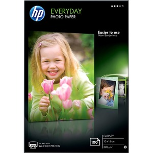 HP Everyday Photo Paper - Papier photo brillant - 8 millièmes de pouce 100 x 150 mm - 200 g/m2 - 100 - CR757A
