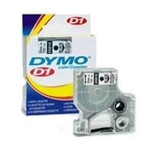 "DYMO® D1 Replacement Tape 1/2"" Black on White"