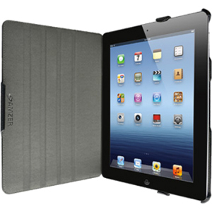 Amzer Shell Portfolio Case Black Leather Texture For IPad3 / Mfr. No.: Amz93526