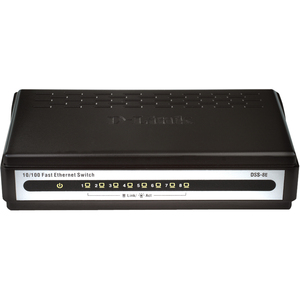 Dss-8e 8port Unmanaged 10/100 Enet Standalone Desktop Switch / Mfr. No.: Dss-8e