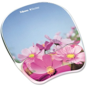 Photo Gel Mouse Pad And Wrist Rest W/Microban-Pink Flowers / Mfr. no.: 9179001