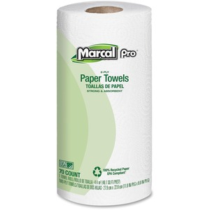 Marcal PRO 100/% Premium Recycled Perforated Towels 11 x 9 White 70//Roll 15 Rolls