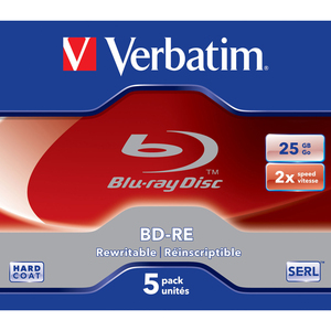 5pk Bd-Re Sl 2x 25gb Branded W/Jewel Case / Mfr. no.: 43615